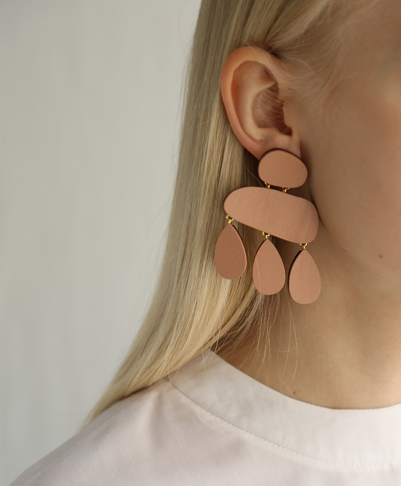 Серьги Cloud Earrings Blush