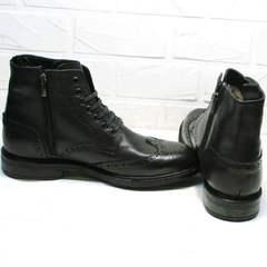 Красивые зимние ботинки мужские LucianoBelliniBC3801L-Black .