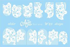 Слайдер наклейки Arti for you цвет белый №W23