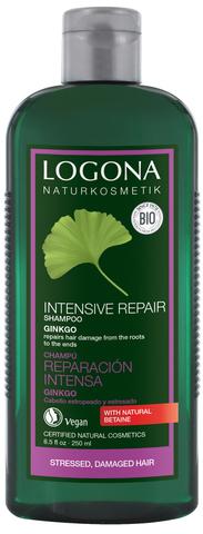 LOGONA Шампунь для интенсивного востановления волос с Экстрактом Гинкго