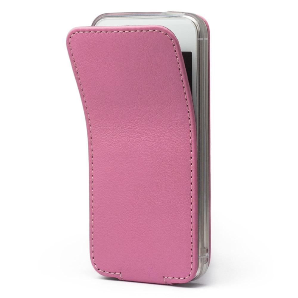 Чехол для iPhone 5S/SE из натуральной кожи теленка, розового цвета