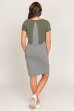 Платье для беременных и кормящих 09836 хаки