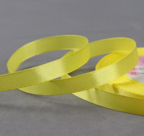Лента атласная,цвет жёлтый,10мм*23±1м