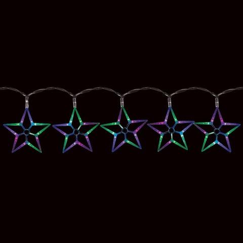 Гирлянда светодиодная «Ледяные звезды RGB», CL57 (Feron)