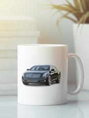 Кружка с рисунком Кадиллак (Cadillac) белая 005