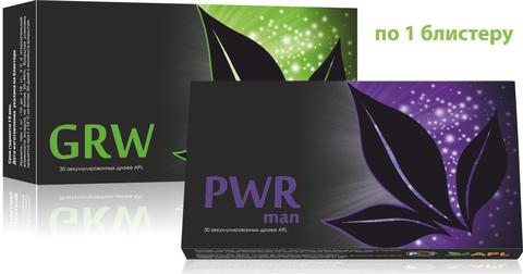 APL. Аккумулированные драже APLGO GRW+PWR man для комплексного оздоровления мужского организма по 1 блистеру