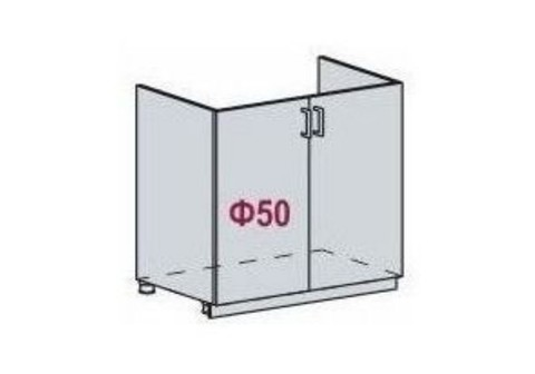 Шкаф нижний мойка ШНМ 800 Лира
