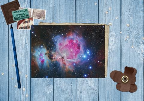 Большая туманность Ориона в созвездии Ориона