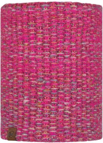 Вязаный шарф-труба с флисом Buff Neckwarmer Knitted Polar Grete Pink фото 1