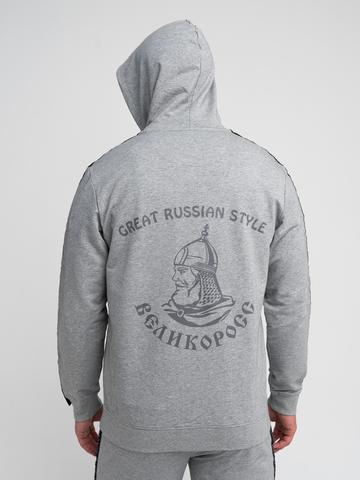 Спортивный костюм «Великоросс» цвета серый меланж