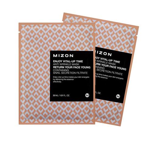 Mizon Маска тканевая антивозрастная для лица ENJOY VITAL UP TIME ANTI WRINKLE MASK 1 шт.