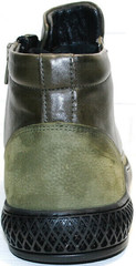 Модные ботинки кожаные мужские Luciano Bellini BC2803 TL Khaki.
