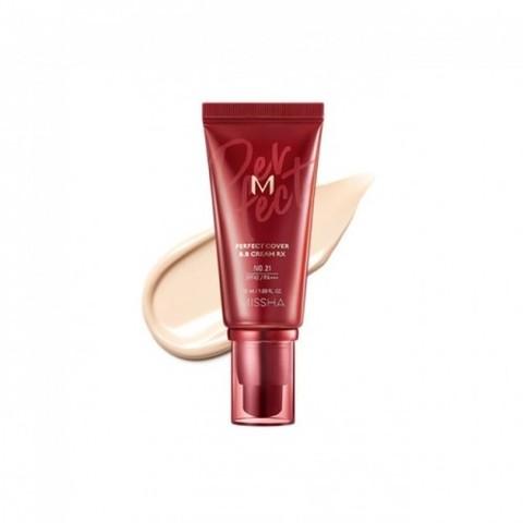 Missha M Perfect Cover BB Cream Rx SPF42 PA+++ тональный крем с прекрасной кроющей способностью тон № 22 нейтральный беж