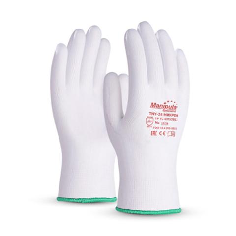 Перчатки нейлоновые белые МИКРОН TNY-24