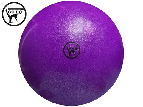 Мяч GO DO для художественной гимнастики. Диаметр 19 см. Цвет фиолетовый имитация