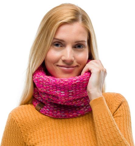 Вязаный шарф-труба с флисом Buff Neckwarmer Knitted Polar Grete Pink фото 2