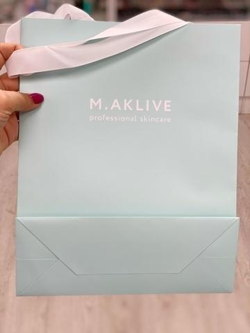 пакет бумажный подарочный M.aklive  цена мастера