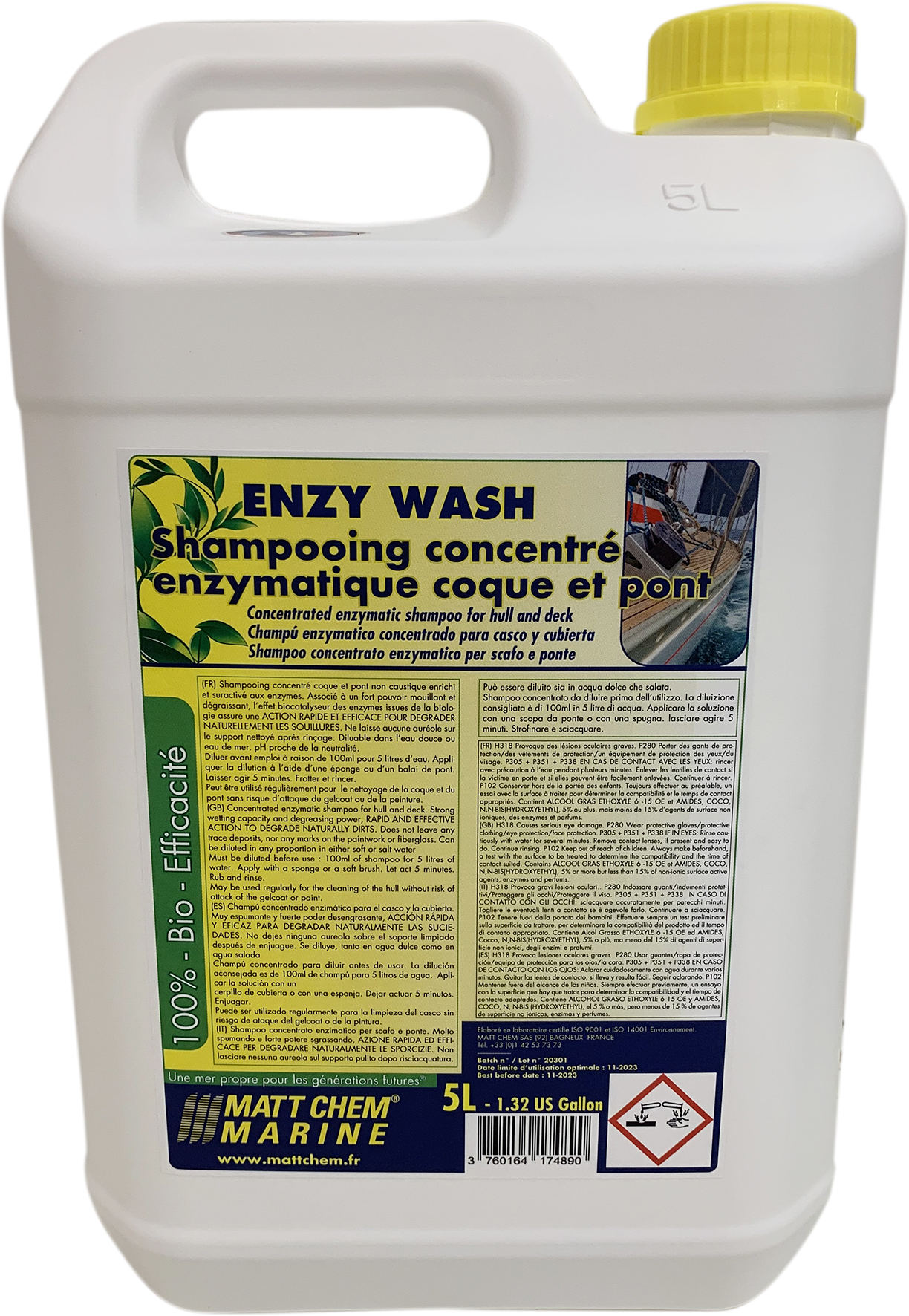 Concentrated hull and deck shampoo Enzy Wash