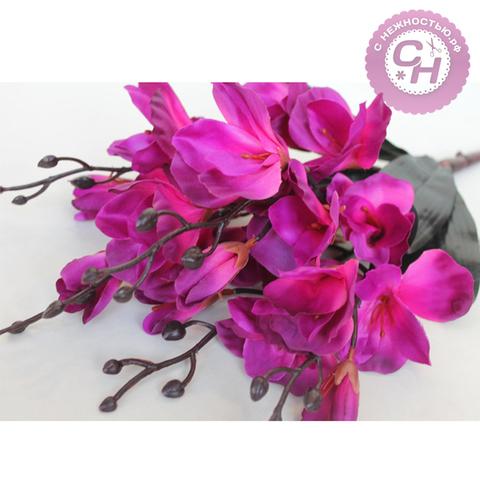 Альстромерии искусственные цветы, букет 5 веток, 43 см.