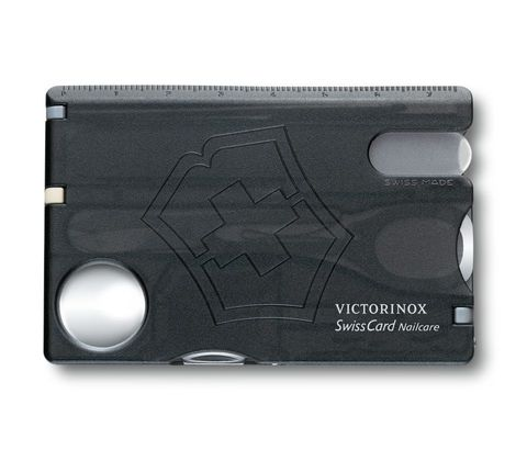 Швейцарская карта Victorinox SwissCard Nailcare Red (0.7240.T3) чёрная полупрозрачная - Wenger-Victorinox.Ru