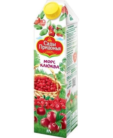 """Морс """"Сады Придонья"""" клюквенный неосветленный 1л"""