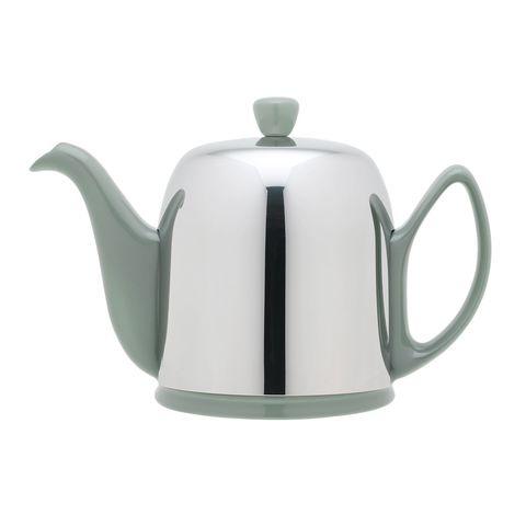 Фарфоровый заварочный чайник на 4 чашки с цинковой крышкой, фисташковый, артикул 236269