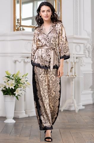 Шелковая пижама с брючками Penelopa (70% нат.шелк)