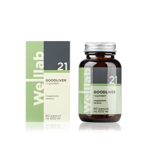 Welllab GOODLIVER, 60 капсул WELLLAB / REVITALL