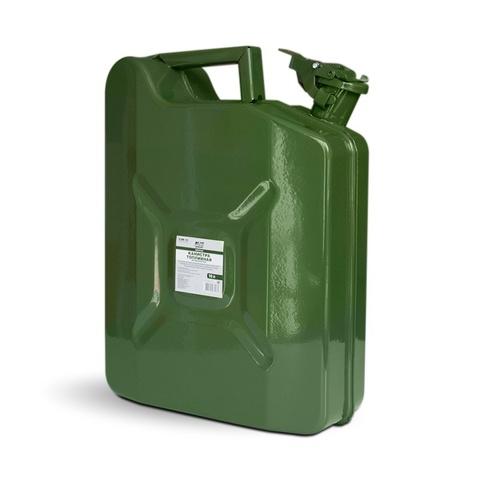 Канистра топливная металлическая вертикальная AVS VJM-10, 10л, зелёная