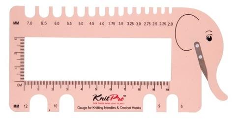 Линейка универсальная KnitPro Слоник розовый 10994