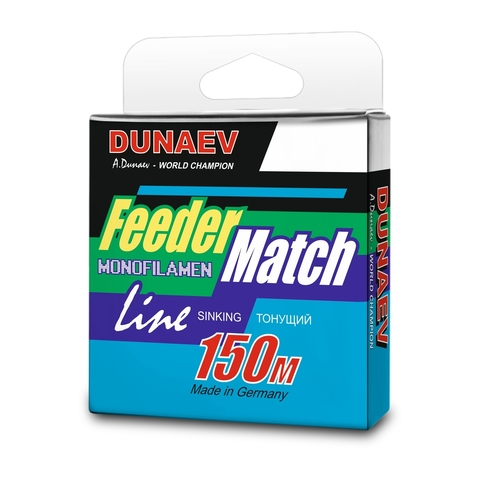 Леска Dunaev Feeder-Match Sinking Black 0.14мм 150м