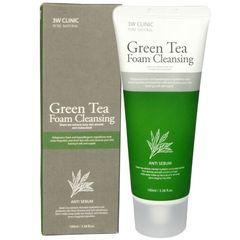 Пенка 3W Clinic для глубокого очищения пор с экстрактом зеленого чая 100 мл