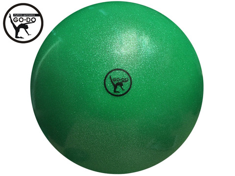 Мяч GO DO для художественной гимнастики. Диаметр 19 см. Цвет зелёный имитация