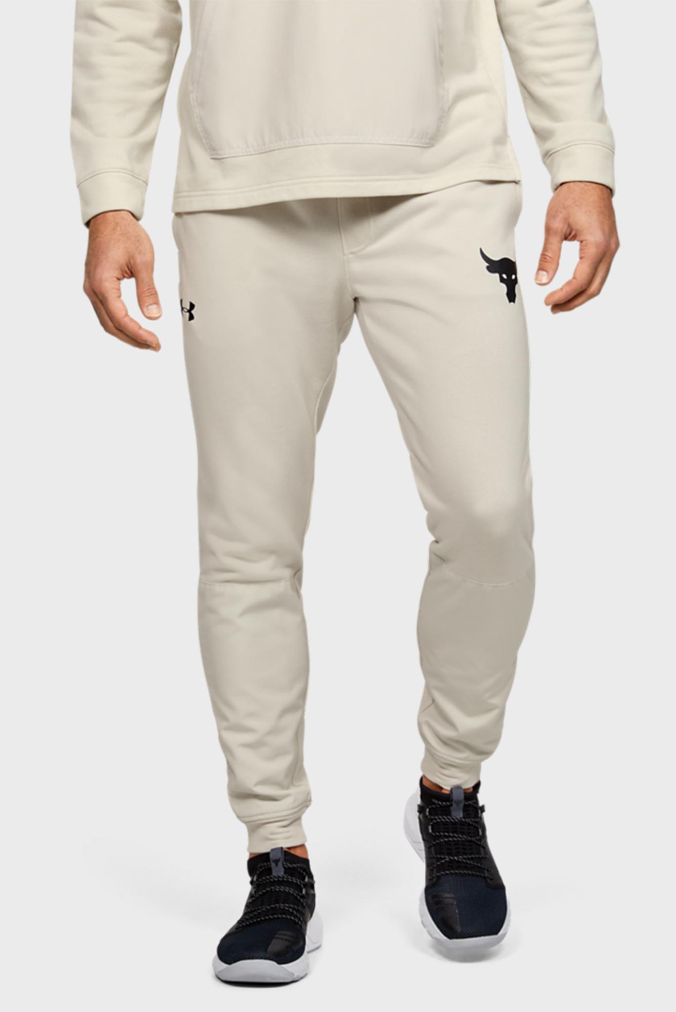 Мужские бежевые спортивные брюки Project Rock Terry Jogger Under Armour