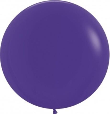 №23 Фиолетовый Гелиевый шар пастель 60см с обработкой