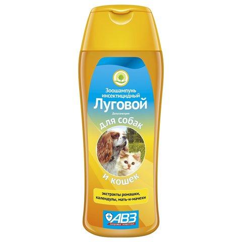 АВЗ шампунь луговой инсектицидный для кошек и собак с экстрактами трав 270мл