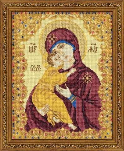 Набор для вышивания крестом «Богоматерь Владимирская» (1300)
