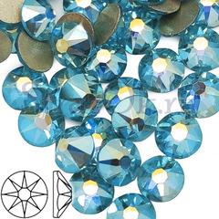 Купить стразы холодной фиксации Xirius 8+8 Aquamarine AB оптом