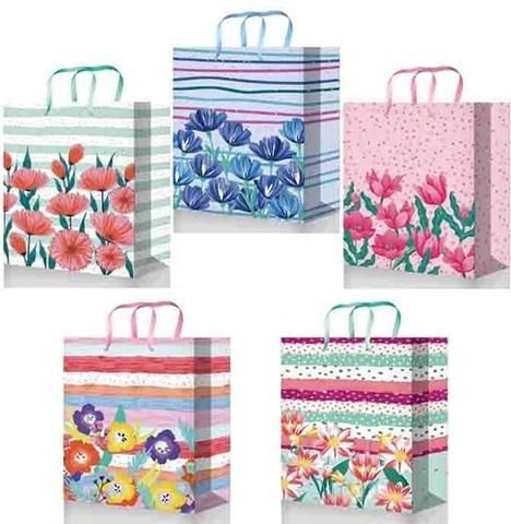 Бумажные подарочные пакеты 32х45х10 ламинированный (Микс)