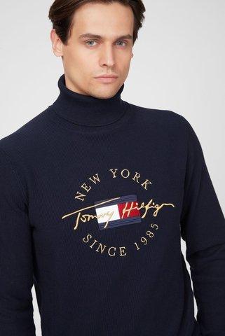 Мужской темно-синий гольф ICON STRUCTURE Tommy Hilfiger