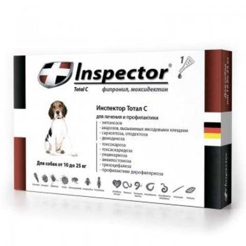 Инспектор для собак от 10кг до 25кг(1 пипетка)