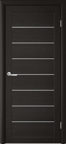 Дверь TrendDoors TDT-1, стекло белое матовое, цвет лиственница тёмная, остекленная