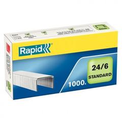 Скобы для степлера N24/6 Rapid оцинкованные (1000 штук в упаковке)