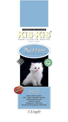 KiS-KiS Kitten Сухой корм для котят всех пород 7,5 кг.