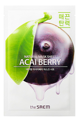 Тканевая маска с асаи, The SAEM, Natural Acai Berry Mask Sheet, 21мл