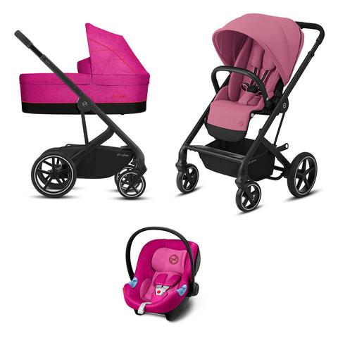Детская коляска Cybex Balios S Lux 3 в 1 Magnolia Pink