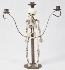 Хэллоуин декорация Подсвечник Скелет