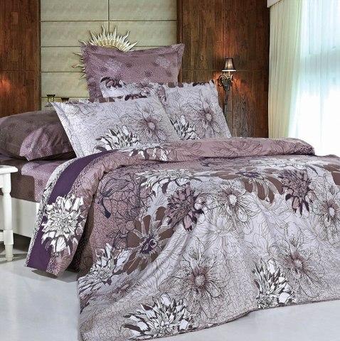 Сатиновое постельное бельё  2 спальное  В-123