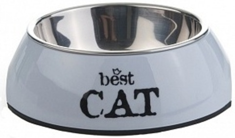 купить Beeztees Best Cat миска 2в1 для кошек, серая