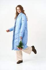 Пальто-одеяло голубой